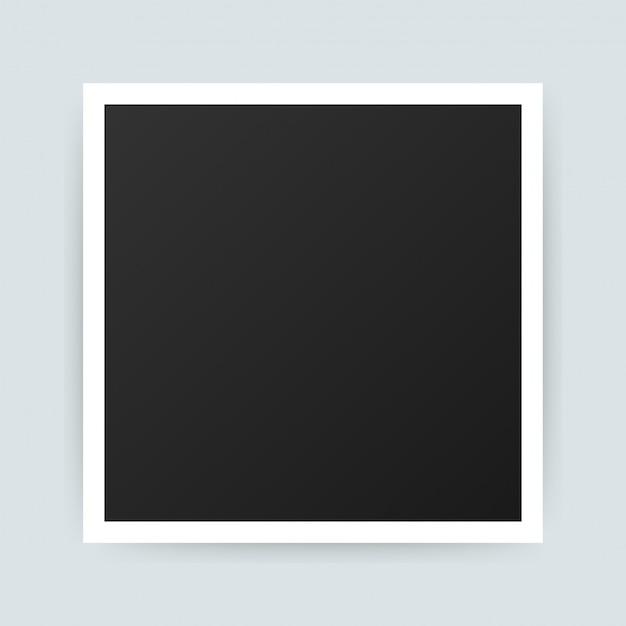 Vektor fotorahmen design. realistische fotografie mit leerzeichen. .
