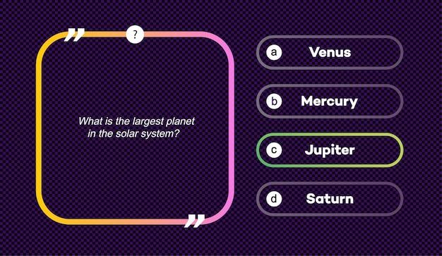 Vektor-frage und -antworten-set neon-stil für quizspiel-prüfungs-tv-show schulprüfungs-testvektor