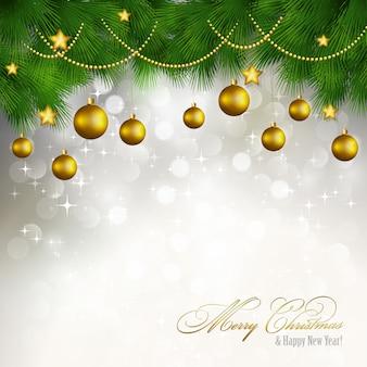 Vektor frohe weihnachten grußkarte