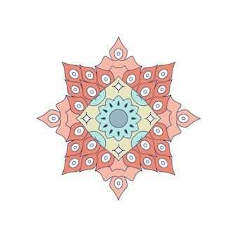 Vektor gefärbtes mandala