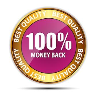 Vektor-geld-zurück-garantie-gold-zeichen, etikett Premium Vektoren