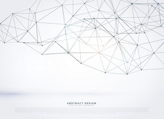 Vektor geometrische polygonalnetz hintergrund-design