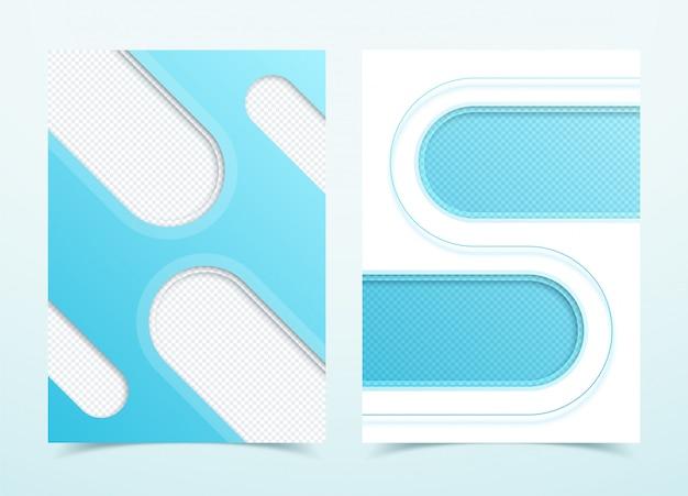 Vektor-geschäfts-blaue hintergründe der seite 3d