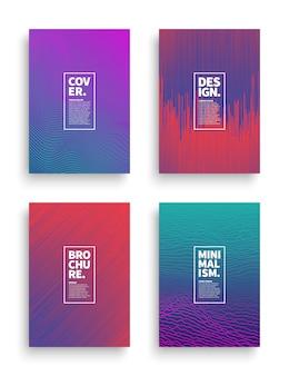Vektor-gesetzte unterschiedliche art-broschüren-flieger-broadsheet-design-schablonen