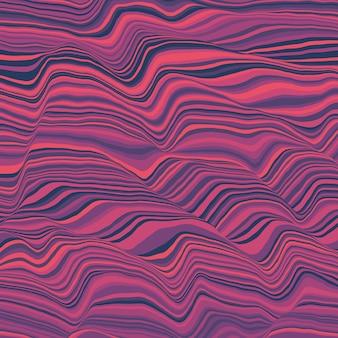 Vektor gestreift. abstrakte farbwellen.