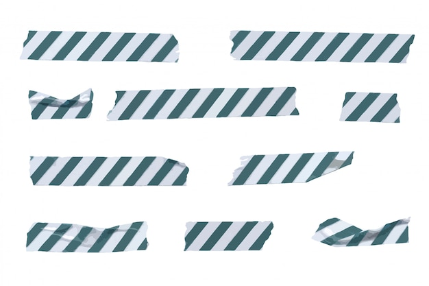 Vektor gestreifte washi tape stripes sammlung, zerknitterte und gefaltete washi tapes