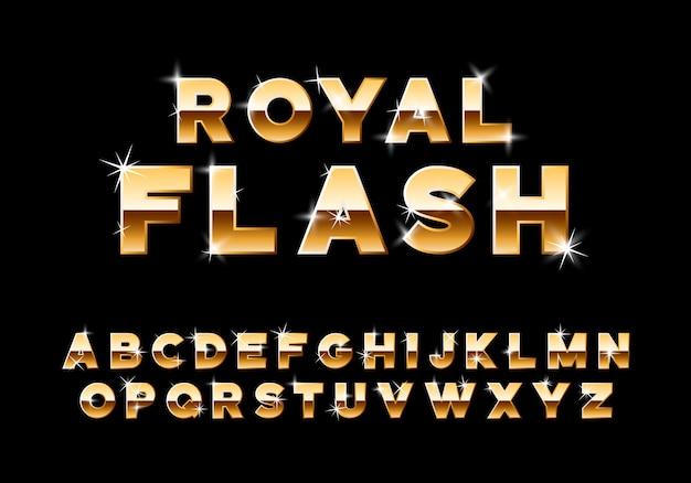 Vektor glänzend luxuriöses alphabet