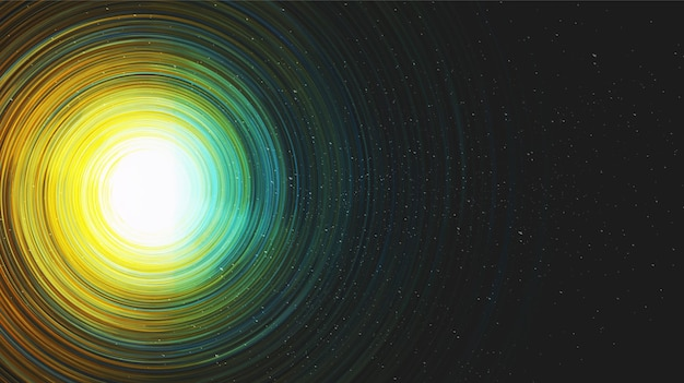 Vektor glänzende hyperraum realistische milchstraße spirale
