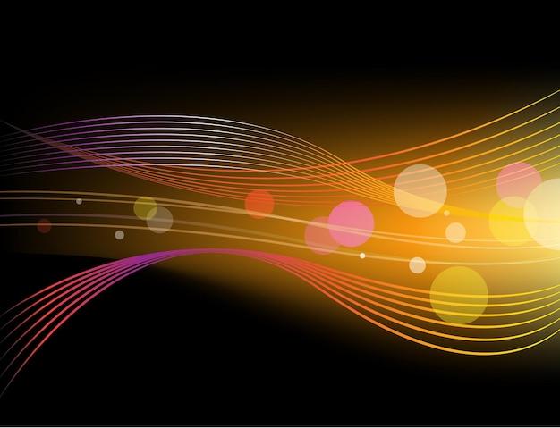 Vektor glänzender abstrakter horizontaler hintergrund, orange mit schwarz