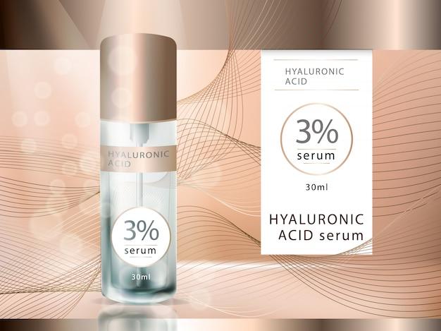 Vektor glas mit hyaluronsäure-serum