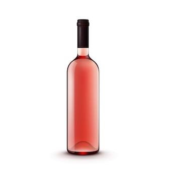 Vektor glas weinflasche