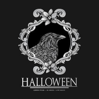 Vektor glücklicher halloween-luxus