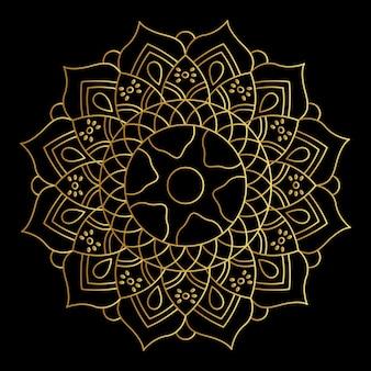 Vektor goldene mandala mit farbverlauf