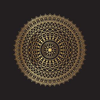 Vektor goldenes mandala