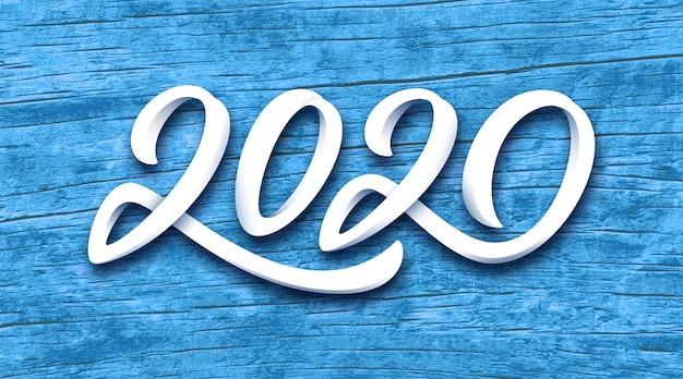 Vektor-grußkarte des guten rutsch ins neue jahr 2020