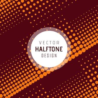 Vektor halbton design hintergrund