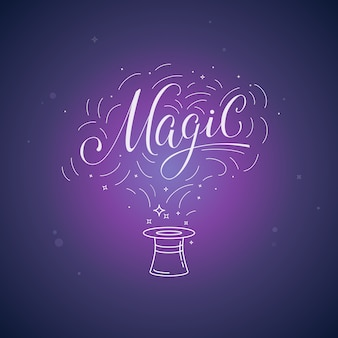 Vektor hand-schriftzug magie