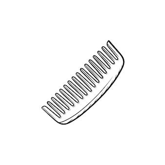 Vektor handgezeichnete kamm umriss doodle symbol. kammskizzenillustration für print, web, mobile und infografiken isoliert auf weißem hintergrund.
