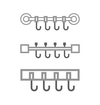 Vektor-handtuchhalter-symbol in flach eingestellt