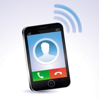 Vektor-handy aufrufen - touchscreen-konzept