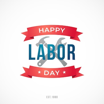 Vektor happy labor day-grußkarte