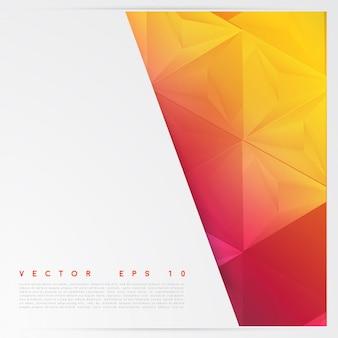 Vektor hintergrund abstrakte polygon dreiecke.