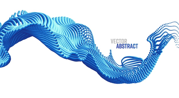 Vektor-hintergrund mit abstrakten big data splash d-punkten moderne wissenschaft banner