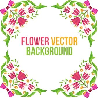 Vektor-hintergrundblume mit blumen bunt