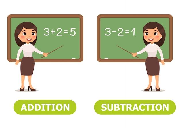 Vektor-illustration antonyme und gegensätze