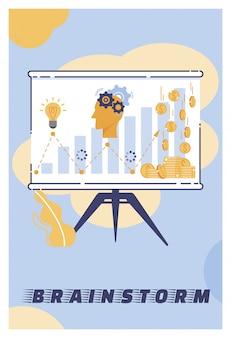 Vektor-illustration-brainstorming-beschriftungskarikatur.