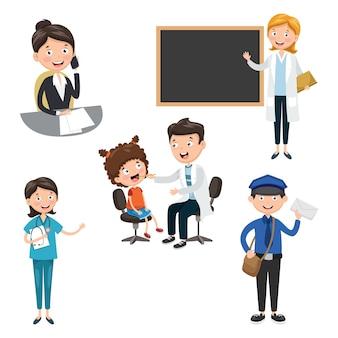 Vektor-Illustration der Berufe