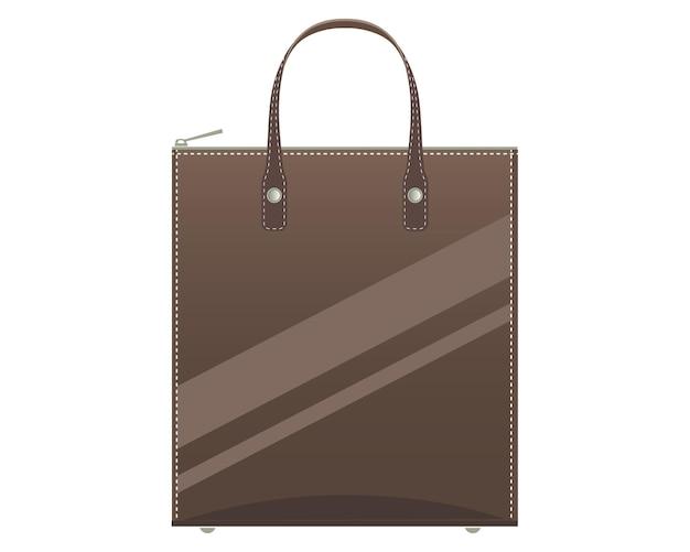 Vektor-illustration der glänzenden ledertasche der frauen.