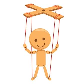 Vektor-illustration der karikatur-marionette