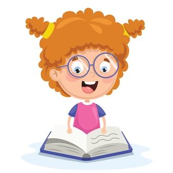 Vektor-illustration der kinderlesung