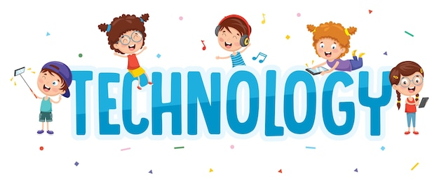 Vektor-illustration der kindertechnologie