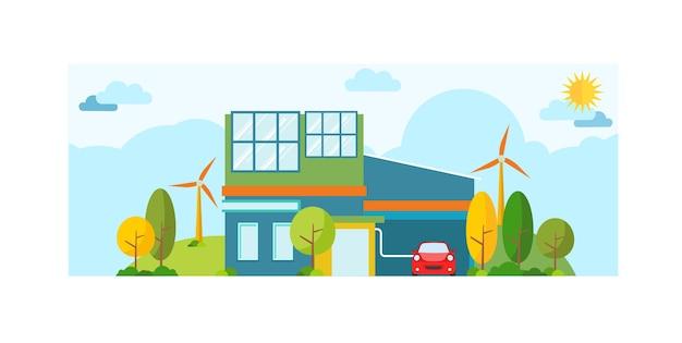 Vektor-illustration der ökologie