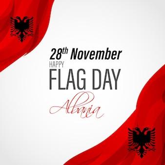 Vektor-illustration der patriotischen fahne des glücklichen albanien-flaggen-tages