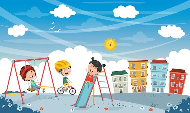 Vektor-illustration der stadtansicht