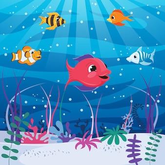 Vektor-illustration der unterwasserwelt