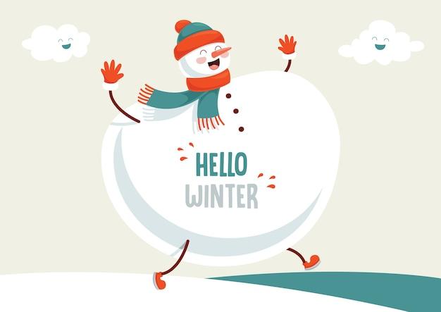 Vektor-illustration der winterszene