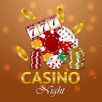 Vektor-illustration des casino-glücksspiels