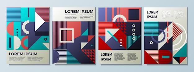 Vektor-illustration des geometrischen hintergrunds mit retro-textur für cover-design
