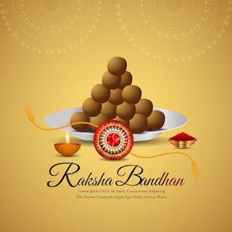 Vektor-illustration des glücklichen raksha-bandhan-feierhintergrundes