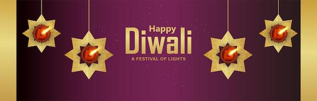 Vektor-illustration des indischen festivals glücklicher diwali-feier-hintergrund