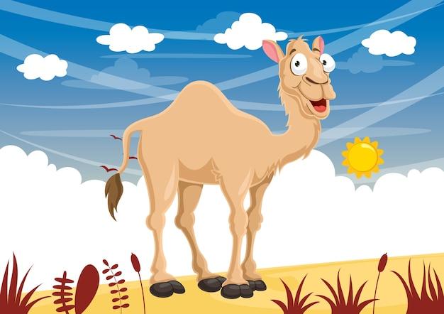 Vektor-illustration des karikatur-kamels