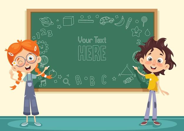 Vektor-illustration des kinderklassenzimmers