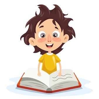Vektor-illustration des kinderstudierens