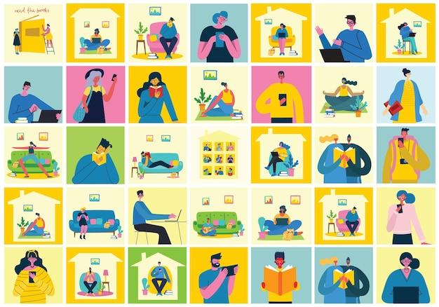 Vektor-illustration des konzepts des teamarbeitsgeschäfts und start-up-design-hintergründe