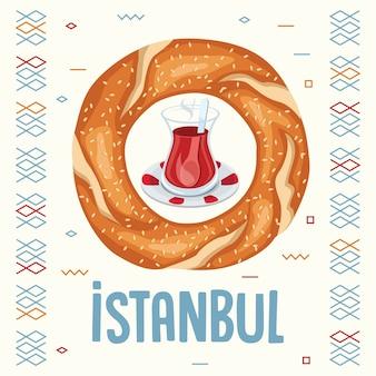 Vektor-illustration des türkischen bagels