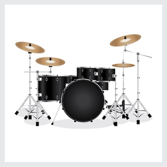Vektor-illustration drum set